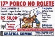 Vem ai o 17° Porco no Rolete em Prol da APAE de Osvaldo Cruz